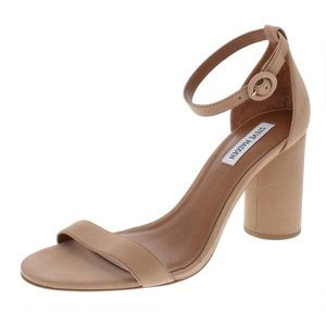 Steve Madden Tan leather sandal chunky heels